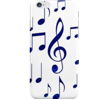 Singing The Blues Abstract Symbol Art iPhone Case/Skin