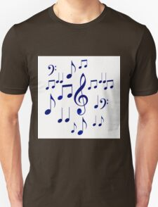 Singing The Blues Abstract Symbol Art T-Shirt