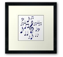 Singing The Blues Abstract Symbol Art Framed Print