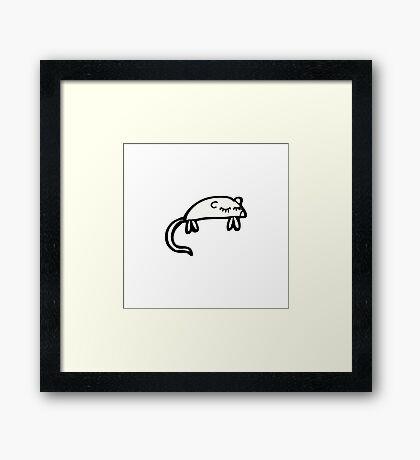 cartoon white mouse Framed Print