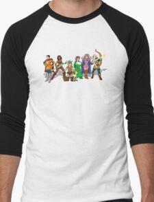 At The Dragon's Graveyard Men's Baseball ¾ T-Shirt