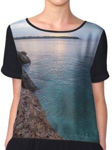 Blue Sea Chiffon Top