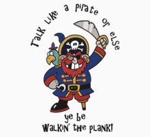 Cartoon Pirate with Peg Leg & Parrot by Gravityx9
