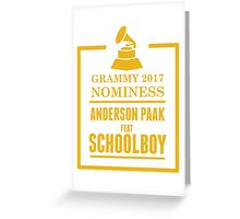 Anderson Paak Feat Schoolboy Greeting Card