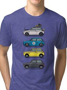 Stack of Honda N360 N600 Kei Cars Tri-blend T-Shirt