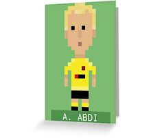 Pixel Hornets: A Abdi Greeting Card