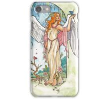 Angel of Spring Mucha Inspired Art Nouveau Angels of the Seasons Series iPhone Case/Skin