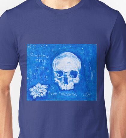 Rene Descartes in oil skull!  Unisex T-Shirt