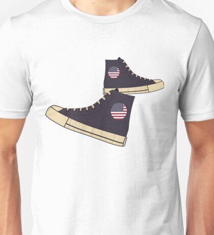 Vintage American Flag Freedom Tennis Shoes Unisex T-Shirt