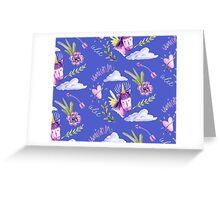 Cute watercolor unicorns Greeting Card
