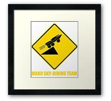 Mass effect Mako skydiving team Framed Print