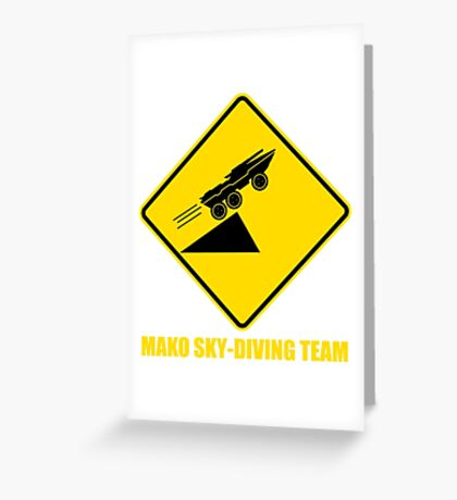 Mass effect Mako skydiving team Greeting Card