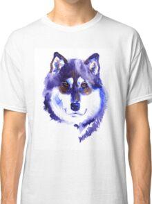 Watercolor Alaskan malamute Classic T-Shirt