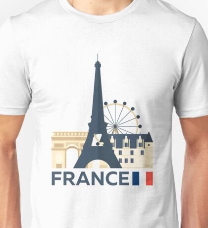 France, Paris skyline Unisex T-Shirt