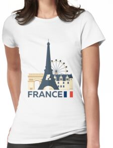 France, Paris skyline Womens Fitted T-Shirt
