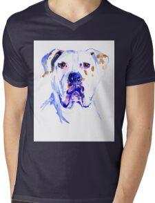 Watercolor American Bulldog  Mens V-Neck T-Shirt