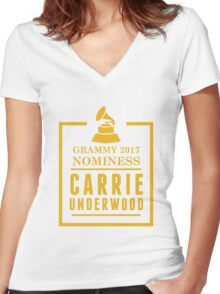 Carrie Underwood Women's Fitted V-Neck T-Shirt