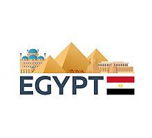 Egypt skyline. Pyramid Photographic Print