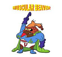 Muscular Beaver Photographic Print