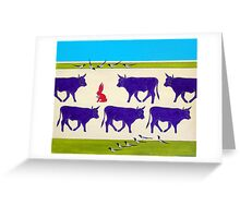 Cattle Guards Greeting Card