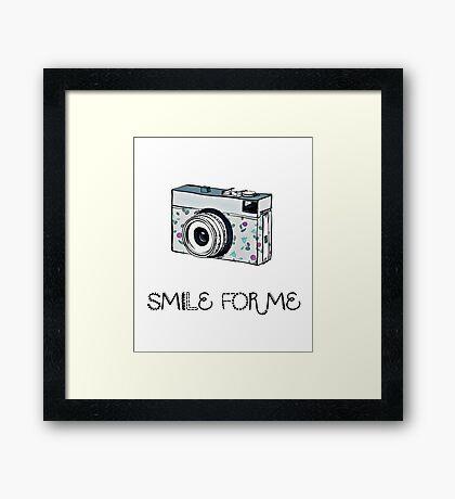 Smile for Me: Camera Framed Print