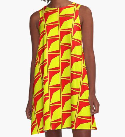.Pattern B-1. .Scaled 11% - Offset Tiling. A-Line Dress