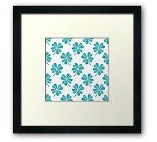 four leaf clover doodle pattern Framed Print