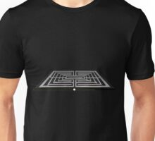 Glitch furniture rug pearly white and black rug Unisex T-Shirt