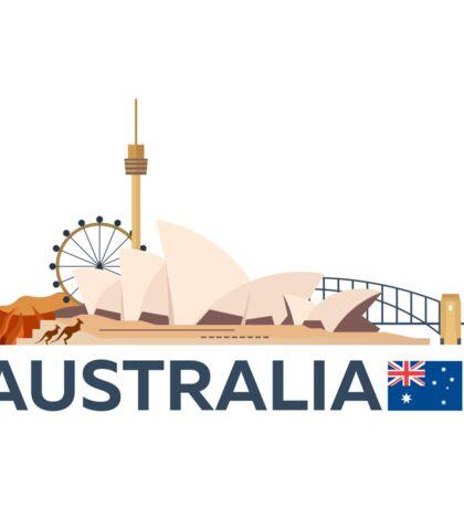 Travel to Australia, Sydney skyline Sticker