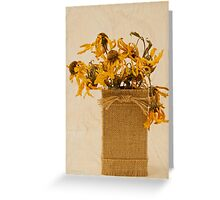 Gloriosa Daisy Flowers Withered Greeting Card