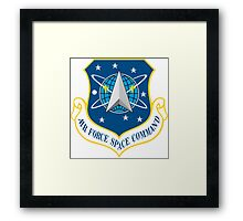 Air Force Space Command (AFSPC) Crest Framed Print