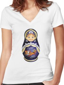 Doll Women's Fitted V-Neck T-Shirt