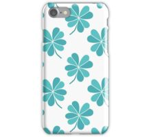 four leaf clover doodle pattern iPhone Case/Skin