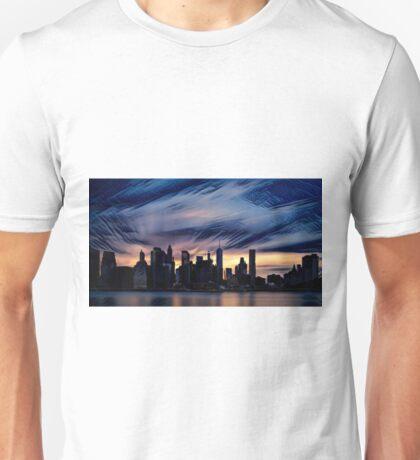 Romantic City Scape on the River Unisex T-Shirt