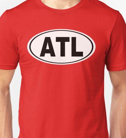ATL Atlanta Georgia oval Design Unisex T-Shirt