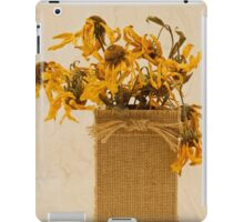 Gloriosa Daisy Flowers Withered iPad Case/Skin