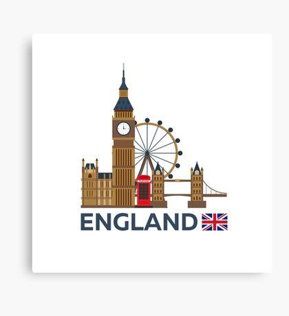Travel to England, London skyline. Big Ban Canvas Print