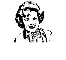 Betty White Stencil Photographic Print