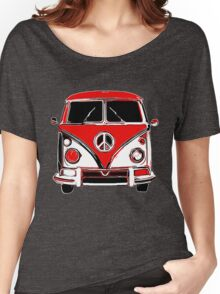 Peace Bus - Black & Red Women's Relaxed Fit T-Shirt
