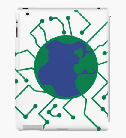 Earth Planet Home Blue Sphere Electric Electronic- network engineer shirt iPad Case/Skin