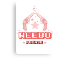 Weebo Please Canvas Print