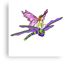 Dragonfly Riding Faerie Canvas Print