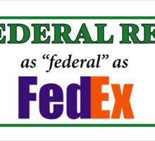 Federal Reserve Federal Express Sticker