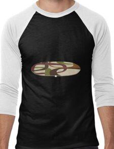 Glitch furniture rug retro squares rug Men's Baseball ¾ T-Shirt