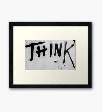 Think Framed Print