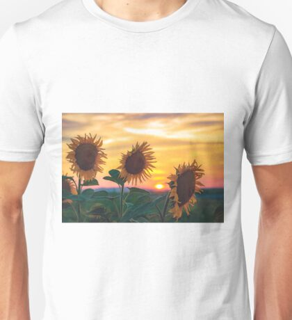 Sunflowers During Sunset Unisex T-Shirt