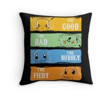 The Good,The Bad,The Bubbly,The Fiery Throw Pillow