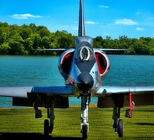 Marines A4L Skyhawk at the Golf Course by TeeMack