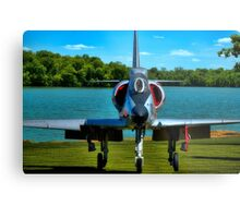 Marines A4L Skyhawk at the Golf Course Metal Print