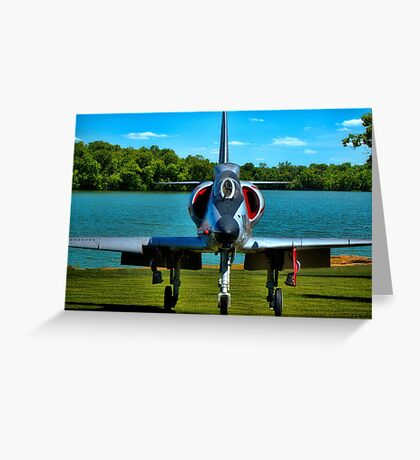Marines A4L Skyhawk at the Golf Course Greeting Card
